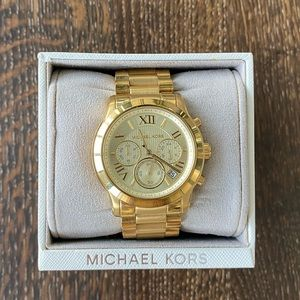 Michael Kors Chunky Gold Watch